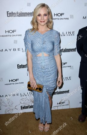 Candice King arrives at the Entertainment Weekly Honors Nominees for the 24th Annual SAG Awards event at the Chateau Marmont Hotel, in Los Angeles