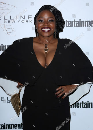 Idara Victor arrives at the Entertainment Weekly Honors Nominees for the 24th Annual SAG Awards event at the Chateau Marmont Hotel, in Los Angeles