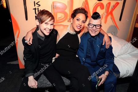 Abigail Savage, Elizabeth Rodriguez, Lea DeLaria