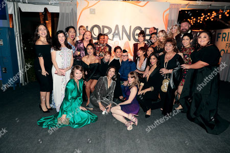 "Cast of ""Orange Is the New Black"" with Abigail Savage"