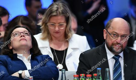 Martin Schulz, Andrea Nahles and Anke Rehlinger