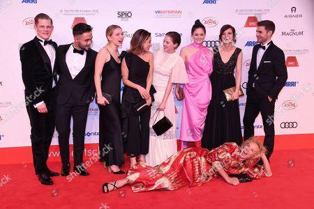 Max of der Groeben, Aram Arami, Anna Lena Klenke, Gizem Emre, Jella Haase, Lea van Acken, Lena Schoenmann, Katja Riemann and Lucas Reiber,