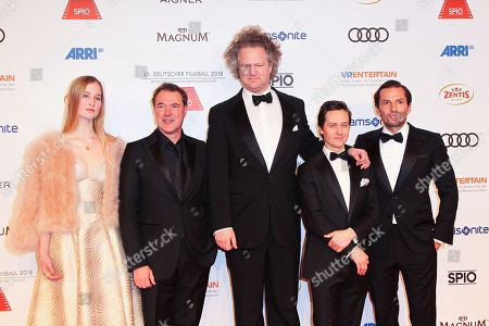 Sebastian Koch, Florian Henckel of Donnersmarck mit Tochter Lara, Tom Schilling, Quirin Berg,