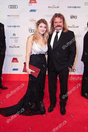 Stock Image of Lara Mandoki mit Vater Leslie Mandoki,