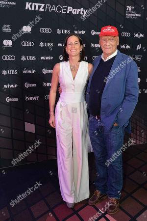 Niki Lauda, wife Birgit Wetzinger