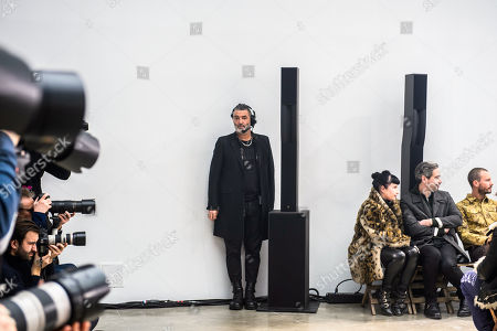 Stock Image of Belgian scenographer Etienne Russo conducts the rehearsal of the Fall/Winter 2018/19 Men's collection by Dutch-born designer Lucas Ossendrijver for Lanvin fashion house during the Paris Men Fashion Week, in Paris, France, 21 January 2018. The presentation of the Men's collections runs from 16 to 21 January 2018.