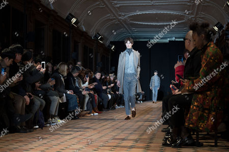 Models presents creations from the Fall/ Winter 2018/2019 Ready to Wear collection by French designer Pierre Maheo for Officine Generale fashion house during the Paris Fashion Week, in Paris, France, 21 January 2018. The presentation of the Men's collections runs from16 to 21 January 2018.
