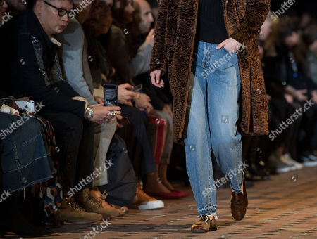 A model presents creations from the Fall/ Winter 2018/2019 Ready to Wear collection by French designer Pierre Maheo for Officine Generale fashion house during the Paris Fashion Week, in Paris, France, 21 January 2018. The presentation of the Men's collections runs from16 to 21 January 2018.
