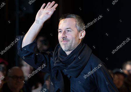 French designer Pierre Maheo waves to the audience following the presentation of his Fall/Winter 2018/2019 for Officine Generale fashion house during the Paris Fashion Week, in Paris, France, 21 January 2018. The presentation of the Men's collections runs from16 to 21 January 2018.