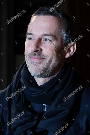 Stock Picture of French designer Pierre Maheo following the presentation of his Fall/Winter 2018/2019 for Officine Generale fashion house during the Paris Fashion Week, in Paris, France, 21 January 2018. The presentation of the Men's collections runs from16 to 21 January 2018.