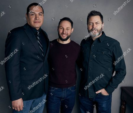 Stock Photo of Eddie Spears, Alexandre Espigares, Nick Offerman