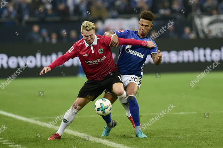 Football : Germany -1. Bundesliga  2017/18  Schalke 04 Vs Hannover 96 21/01/2018 - Matthias Ostrzolek (Hannover 96), Thilo Kehrer (FC Schalke 04)