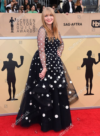 Emily Tarver arrives at the 24th annual Screen Actors Guild Awards at the Shrine Auditorium & Expo Hall, in Los Angeles