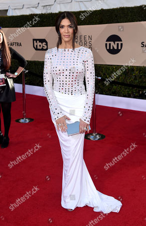 Laura Gomez arrives at the 24th annual Screen Actors Guild Awards at the Shrine Auditorium & Expo Hall, in Los Angeles
