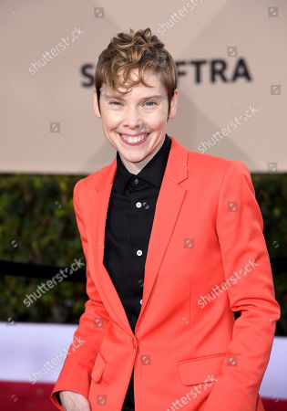 Abigail Savage arrives at the 24th annual Screen Actors Guild Awards at the Shrine Auditorium & Expo Hall, in Los Angeles