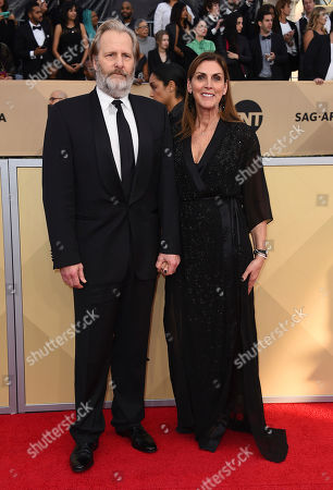 Jeff Daniels, Kathleen Rosemary Treado. Jeff Daniels, left and Kathleen Rosemary Treado arrive at the 24th annual Screen Actors Guild Awards at the Shrine Auditorium & Expo Hall, in Los Angeles
