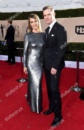 Natalie Zea, Travis Schuldt. Natalie Zea, left, and Travis Schuldt arrive at the 24th annual Screen Actors Guild Awards at the Shrine Auditorium & Expo Hall, in Los Angeles