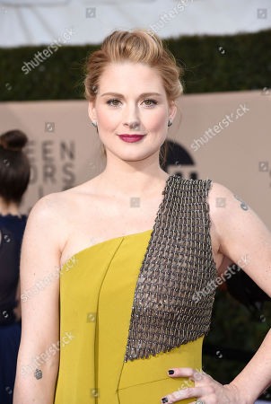Alexandra Breckenridge arrives at the 24th annual Screen Actors Guild Awards at the Shrine Auditorium & Expo Hall, in Los Angeles