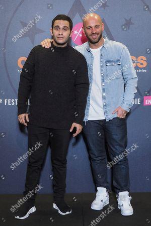 (L-R) Malik Bentalha and Franck Gastambide attend the Closing Ceremony Photocall