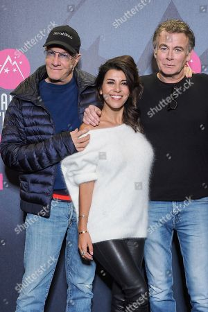 (L-R) Christopher Lambert, Reem Kherici and Franck Dubosc attend the Closing Ceremony Photocall