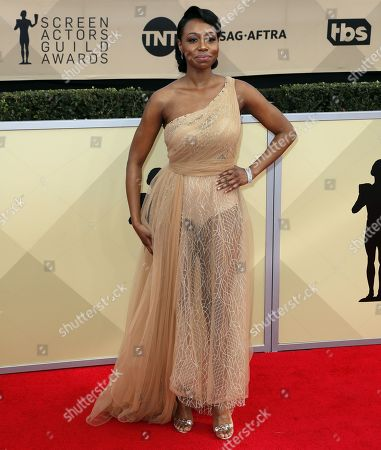 Editorial image of Arrivals - 24th Screen Actors Guild Awards, Los Angeles, USA - 21 Jan 2018