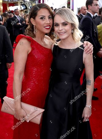 Elizabeth Rodriguez, Taryn Manning. Elizabeth Rodriguez, left, and Taryn Manning arrive at the 24th annual Screen Actors Guild Awards at the Shrine Auditorium & Expo Hall, in Los Angeles