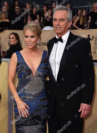 Cheryl Hines, Robert F. Kennedy Jr, Jr. Cheryl Hines, left, and Robert F. Kennedy Jr, Jr. arrive at the 24th annual Screen Actors Guild Awards at the Shrine Auditorium & Expo Hall, in Los Angeles
