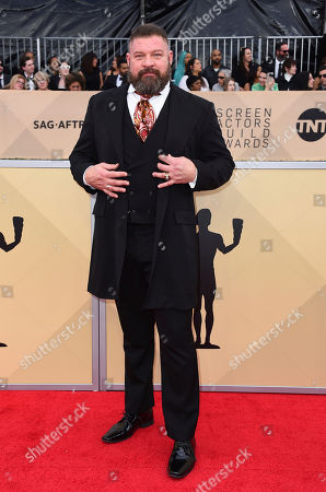 Stock Image of Brad William Henke arrives at the 24th annual Screen Actors Guild Awards at the Shrine Auditorium & Expo Hall, in Los Angeles