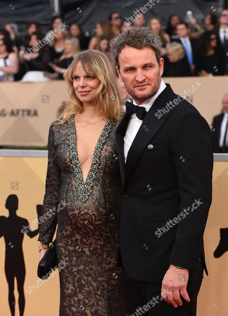 Cecile Breccia, Jason Clarke. Cecile Breccia, left, and Jason Clarke arrive at the 24th annual Screen Actors Guild Awards at the Shrine Auditorium & Expo Hall, in Los Angeles