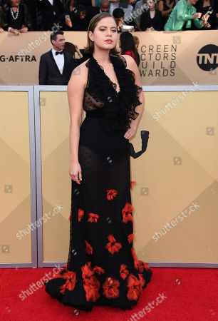 Emily Althaus arrives at the 24th annual Screen Actors Guild Awards at the Shrine Auditorium & Expo Hall, in Los Angeles