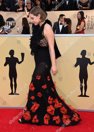 Stock Picture of Emily Althaus arrives at the 24th annual Screen Actors Guild Awards at the Shrine Auditorium & Expo Hall, in Los Angeles