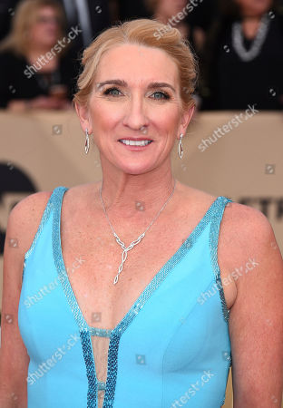 Jane Austin arrives at the 24th annual Screen Actors Guild Awards at the Shrine Auditorium & Expo Hall, in Los Angeles