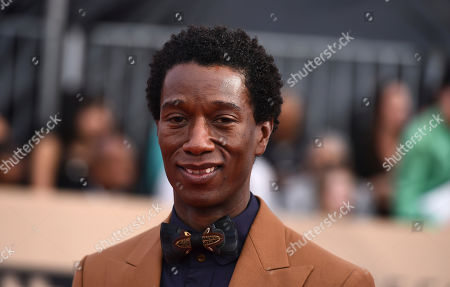 Jermel Nakia arrives at the 24th annual Screen Actors Guild Awards at the Shrine Auditorium & Expo Hall, in Los Angeles