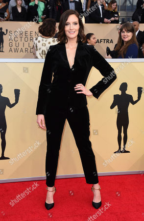 Julie Lake arrives at the 24th annual Screen Actors Guild Awards at the Shrine Auditorium & Expo Hall, in Los Angeles