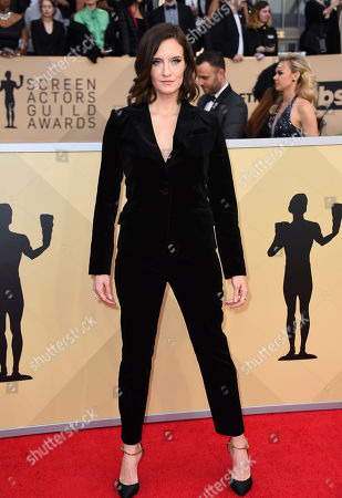 Stock Photo of Julie Lake arrives at the 24th annual Screen Actors Guild Awards at the Shrine Auditorium & Expo Hall, in Los Angeles