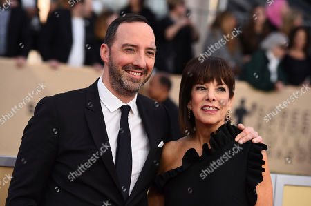 Tony Hale, Martel Thompson. Tony Hale, left, and Martel Thompson arrive at the 24th annual Screen Actors Guild Awards at the Shrine Auditorium & Expo Hall, in Los Angeles