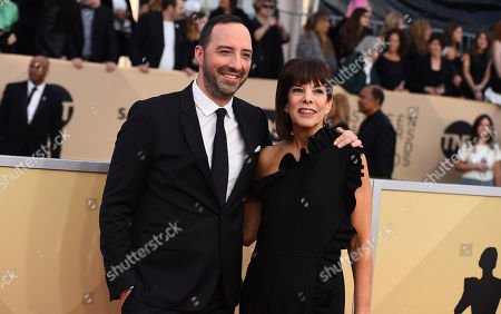 Stock Photo of Tony Hale, Martel Thompson. Tony Hale, left, and Martel Thompson arrive at the 24th annual Screen Actors Guild Awards at the Shrine Auditorium & Expo Hall, in Los Angeles