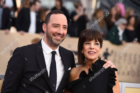 Stock Picture of Tony Hale, Martel Thompson. Tony Hale, left, and Martel Thompson arrive at the 24th annual Screen Actors Guild Awards at the Shrine Auditorium & Expo Hall, in Los Angeles