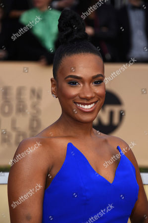 Vicky Jeudy arrives at the 24th annual Screen Actors Guild Awards at the Shrine Auditorium & Expo Hall, in Los Angeles