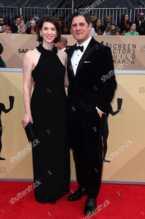 Virginia Donohoe, Rich Sommer. Virginia Donohoe, left, and Rich Sommer arrive at the 24th annual Screen Actors Guild Awards at the Shrine Auditorium & Expo Hall, in Los Angeles