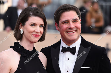 Stock Picture of Virginia Donohoe, Rich Sommer. Virginia Donohoe, left, and Rich Sommer arrive at the 24th annual Screen Actors Guild Awards at the Shrine Auditorium & Expo Hall, in Los Angeles