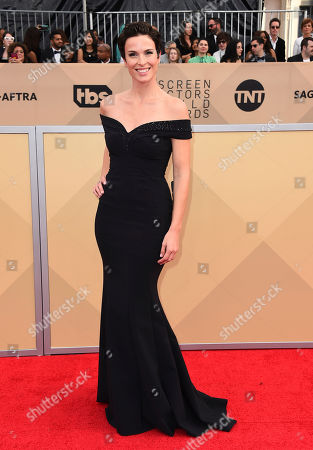 Chantal Cousineau arrives at the 24th annual Screen Actors Guild Awards at the Shrine Auditorium & Expo Hall, in Los Angeles