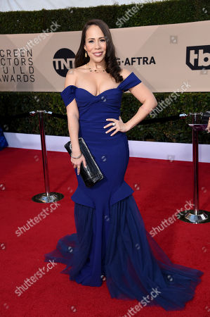 Stock Photo of Rosal Colon arrives at the 24th annual Screen Actors Guild Awards at the Shrine Auditorium & Expo Hall, in Los Angeles