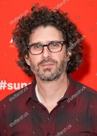 """Director Joshua Marston poses during the premiere of """"Come Sunday"""" at the Eccles Theatre during the 2018 Sundance Film Festival, in Park City, Utah"""