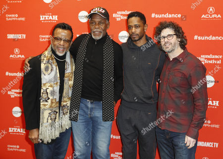 Stock Picture of (L_R) Bishop Carlton Pearson, actors Danny Glover, Lakeith Stanfield and Director Joshua Marston arrive for the premiere of the movie 'Come Sunday' at the 2018 Sundance Film Festival in Park City, Utah, USA, 21 January 2018. The festival runs from  the18 to 28 January.