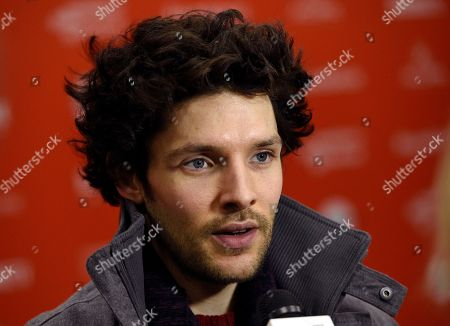 """Colin Morgan, a cast member in """"The Happy Prince,"""" is pictured at the premiere of the film at the 2018 Sundance Film Festival, in Park City, Utah"""
