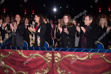 Princess Stephanie of Monaco, Pauline Ducruet, Camille Rose Gottlieb, Robert Hossein and his wife Candice Patou