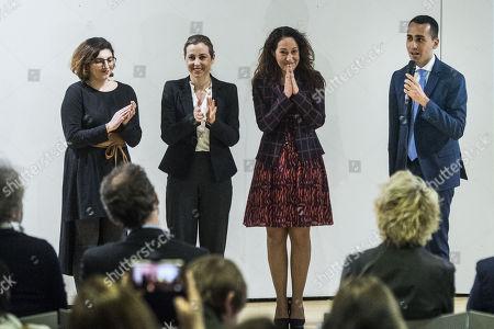 Giulia Grillo, Paola Taverna, Laura Castelli and Luigi Di Maio