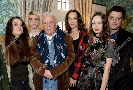 Paloma Bailey, Sascha Bailey, David Bailey, Catherine Bailey, Sarah Stanbury and Fenton Bailey