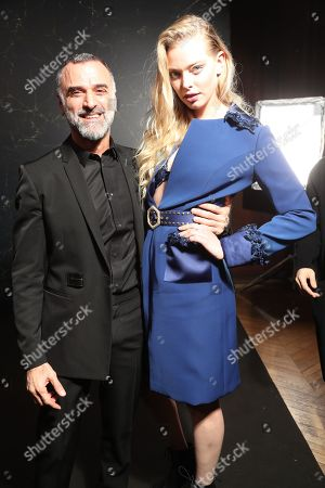 Editorial picture of Tanya Dziahileva and Georges Hobeika photoshoot, Paris, France - 22 Jan 2018